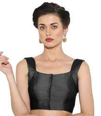 Black Color Bengal silk Readymade Party Wear Blouses (34,36,38,40): Sujil Collection  YF-53511
