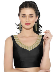 Black Color Bengal silk Readymade Party Wear Blouses (34,36,38,40): Sujil Collection  YF-53515