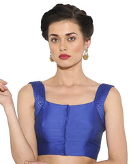 Blue  Color Bengal silk Readymade Party Wear Blouses (34,36,38,40): Sujil Collection  YF-53531