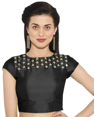 Black Color Bengal silk Readymade Party Wear Blouses (34,36,38,40): Sujil Collection  YF-53539