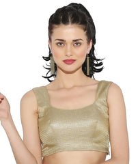 gold Color Brocade Readymade Party Wear Blouses (34,36,38,40): Sujil Collection  YF-53607