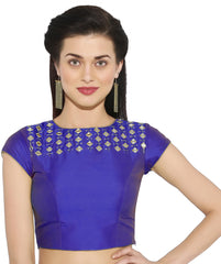 Purple Color Bengal silk Readymade Party Wear Blouses (34,36,38,40): Sujil Collection  YF-53683
