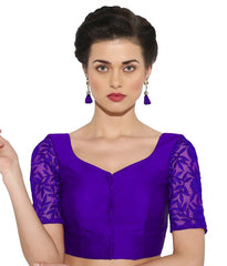 Purple Color Bengal silk Readymade Party Wear Blouses (34,36,38,40): Sujil Collection  YF-53687