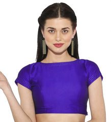 Purple Color Bengal silk Readymade Party Wear Blouses (34,36,38,40): Sujil Collection  YF-53691