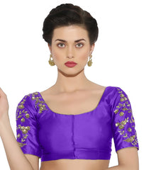 Purple Color Bengal silk Readymade Party Wear Blouses (34,36,38,40): Sujil Collection  YF-53695