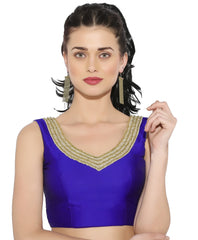 Purple Color Bengal silk Readymade Party Wear Blouses (34,36,38,40): Sujil Collection  YF-53703