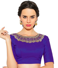 Purple Color Bengal silk Readymade Party Wear Blouses (34,36,38,40): Sujil Collection  YF-53747
