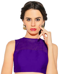 Purple Color Bengal silk Readymade Party Wear Blouses (34,36,38,40): Sujil Collection  YF-53755