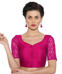 Pink Color Bengal silk Readymade Party Wear Blouses (34,36,38,40): Sujil Collection  YF-53759