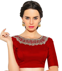 Red Color Bengal silk Readymade Party Wear Blouses (34,36,38,40): Sujil Collection  YF-53767