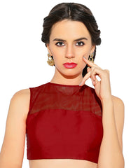 Deep Red Color Bengal silk Readymade Party Wear Blouses (34,36,38,40): Sujil Collection  YF-53771