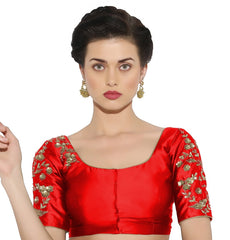 Red Color Bengal silk Readymade Party Wear Blouses (34,36,38,40): Sujil Collection  YF-53775