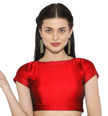 Red Color Bengal silk Readymade Party Wear Blouses (34,36,38,40): Sujil Collection  YF-53779