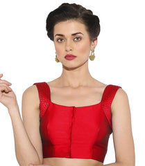 Red  Color Bengal silk Readymade Party Wear Blouses (34,36,38,40): Sujil Collection  YF-53783