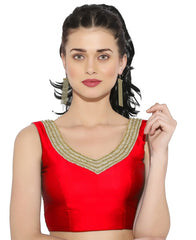 Red Color Bengal silk Readymade Party Wear Blouses (34,36,38,40): Sujil Collection  YF-53787