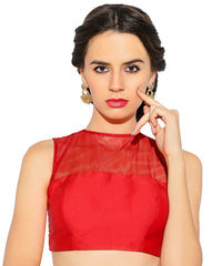 Red Color Bengal silk Readymade Party Wear Blouses (34,36,38,40): Sujil Collection  YF-53799