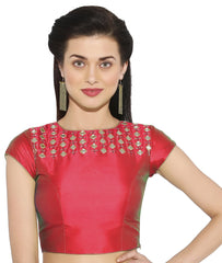 Red Color Bengal silk Readymade Party Wear Blouses (34,36,38,40): Sujil Collection  YF-53803