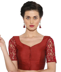 maroon Color Bengal silk Readymade Party Wear Blouses (34,36,38,40): Sujil Collection  YF-53807