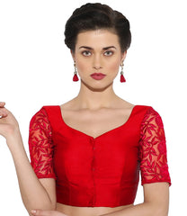 Red Color Bengal silk Readymade Party Wear Blouses (34,36,38,40): Sujil Collection  YF-53811
