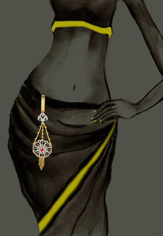 Kamar Challa   Fine CZ (Cubic Zerconia) Jewellery   : Ethnic Fashion Collection -  YF-9362