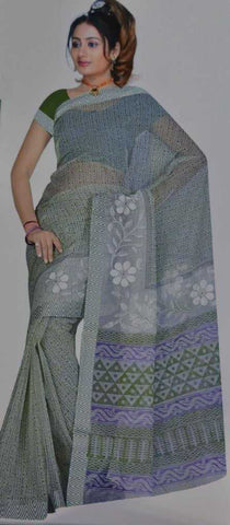 Green  Colour  Kota Chokana (checks)  Material Sarees : Teacher's Day Collection -  YF-11726