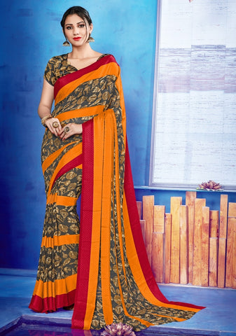 Multi Color Georgette & Satin Kitty Party Sarees : Viyona Collection YF-67563