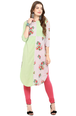 Multi Color Crepe Readymade Casual Party Kurtis ( Sizes-36,38,40,42,44): Armita Collection YF-70069