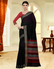 Black Color Sambhalpuri Casual Party Sarees : Gomati Collection  YF-59994