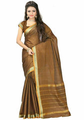 Copper Color Cotton Casual Party Wear Sarees : Bhavina Collection  YF-29889