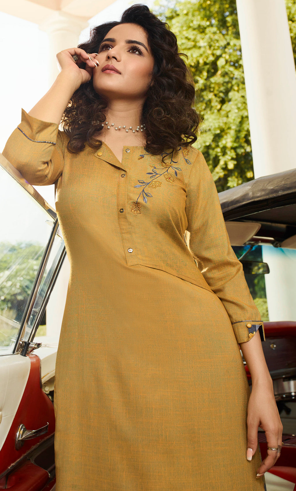 Yellow Color Rayon Lovely Kurtis With Palazzo NYF-5353