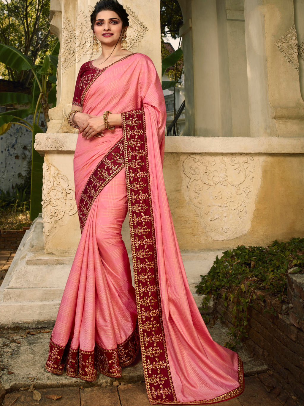 Pink Color Soft Silk Lovely Festive Sarees NYF-7297