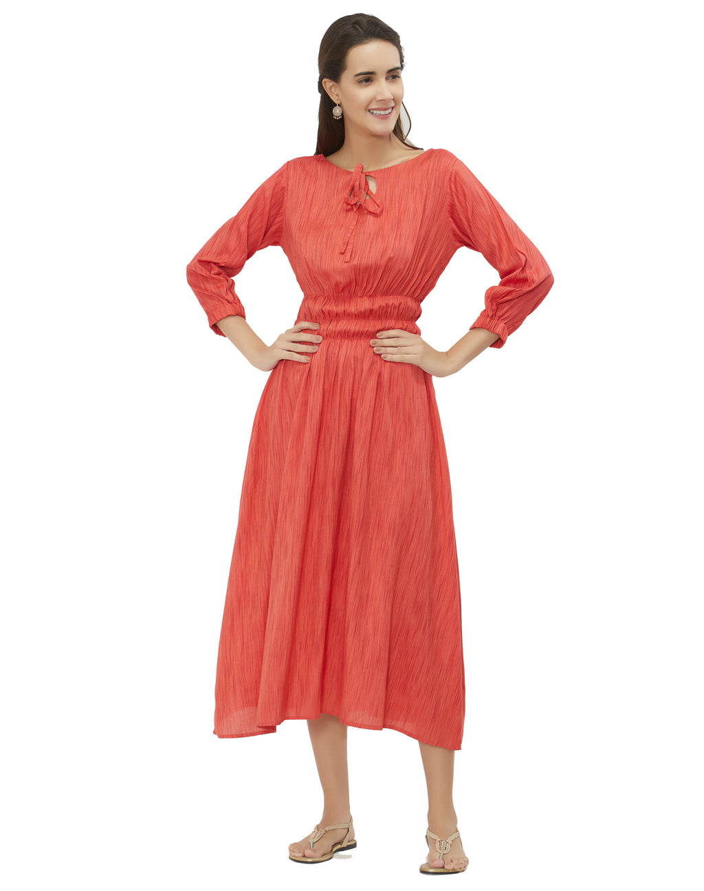 Pink Color Flex Rayon Daily Wear Long Kurtis NYF-6978