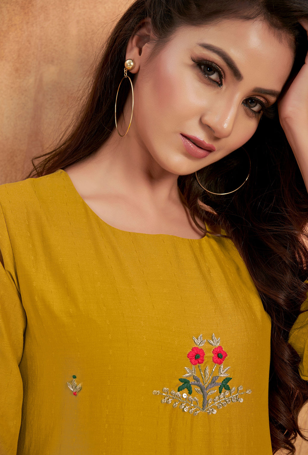 Yellow Color Mulsin Party Wear Kurti With Bottom NYF-9160