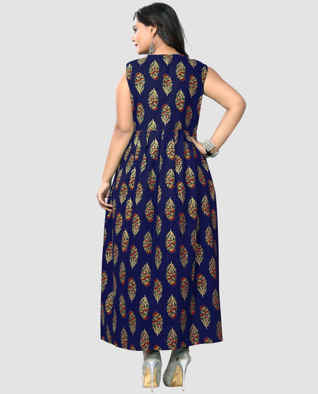 Blue Color Cotton Casual Wear Kurtis NYF-8888