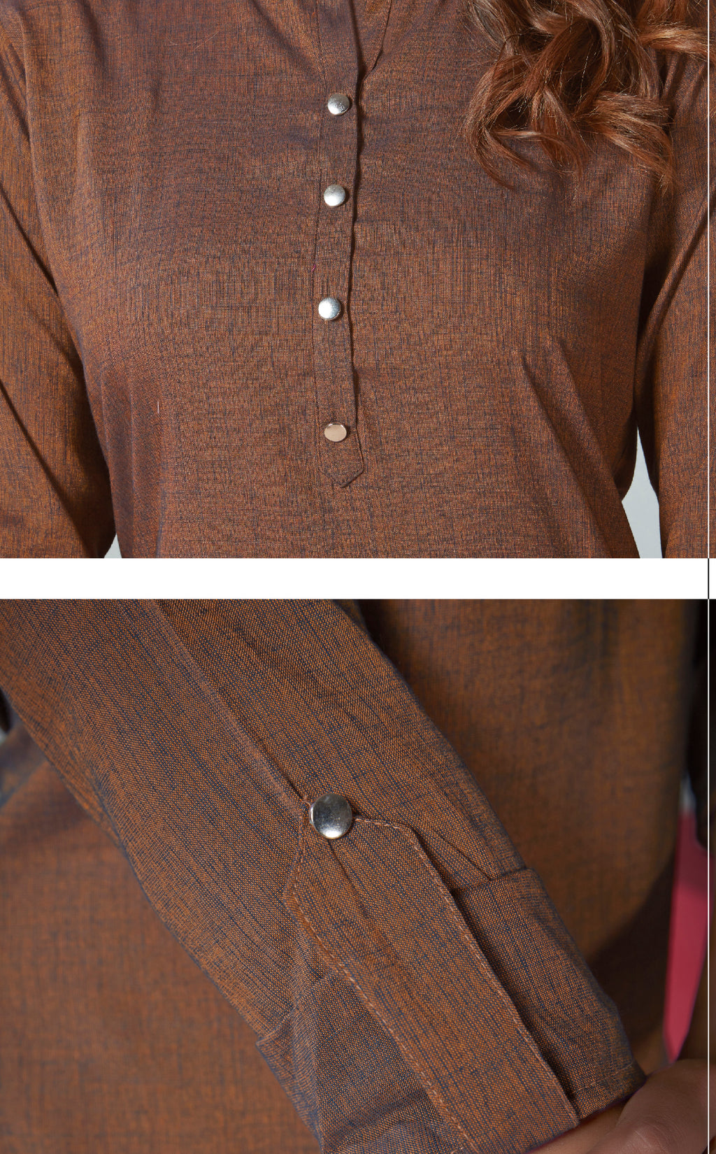 Brown Color Two Tone Rayon Daily Wear Kurtis NYF-9132