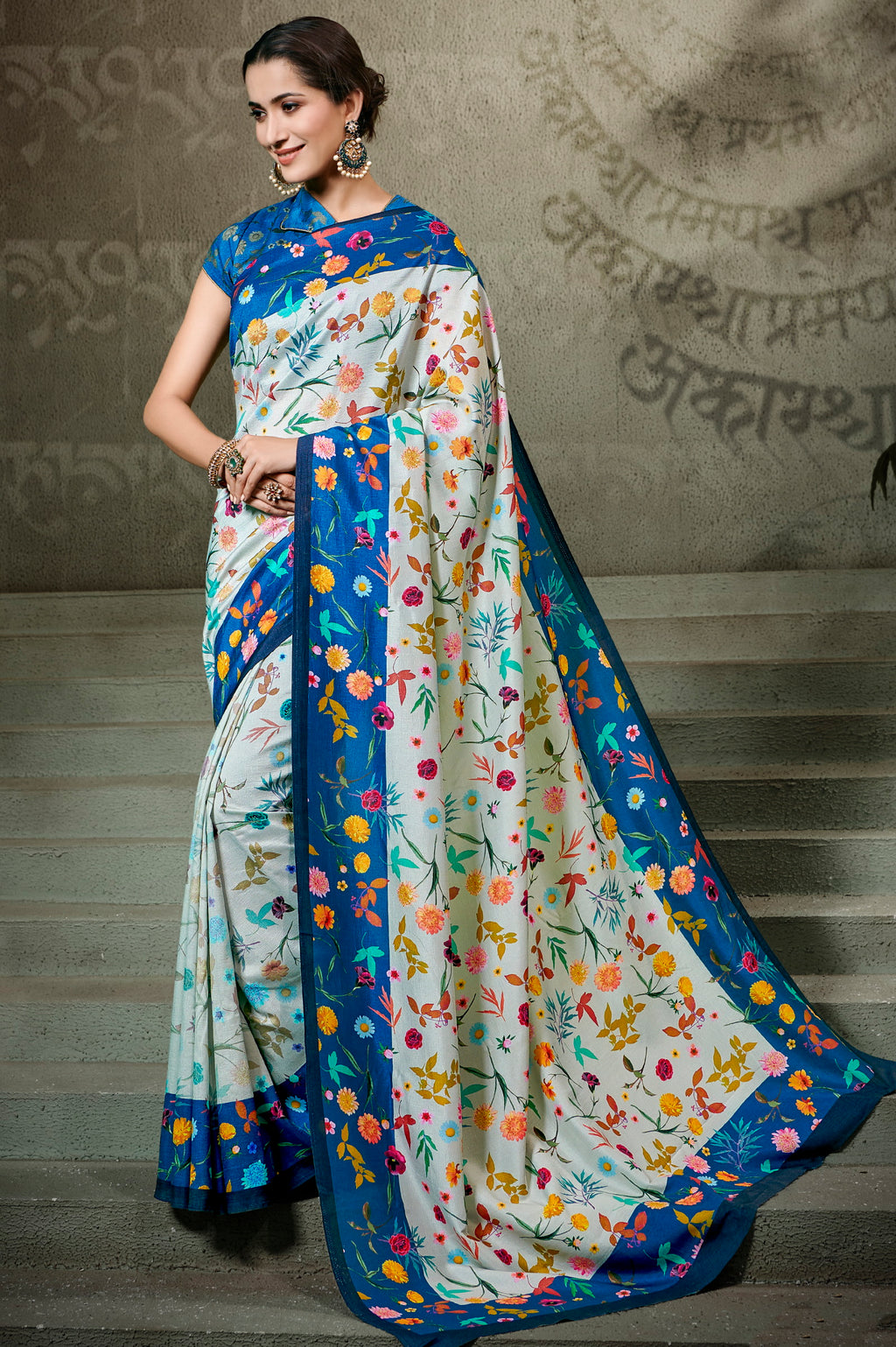 Light Aqua Blue Color Tusser Silk Radiant Festive Sarees NYF-5226