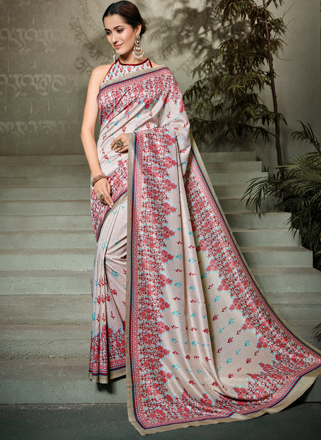 Light Burgandy Color Tusser Silk Radiant Festive Sarees NYF-5231