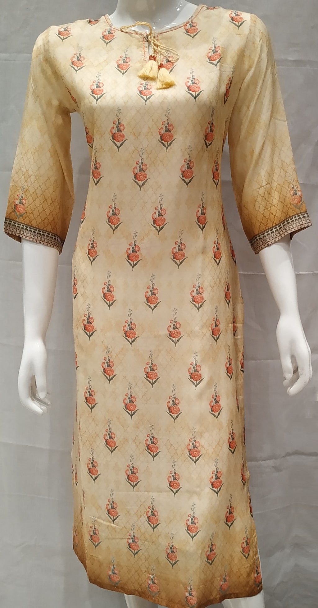 Yellow Color Pure Muslin Designer Party Wear Kurtis NYF-6706