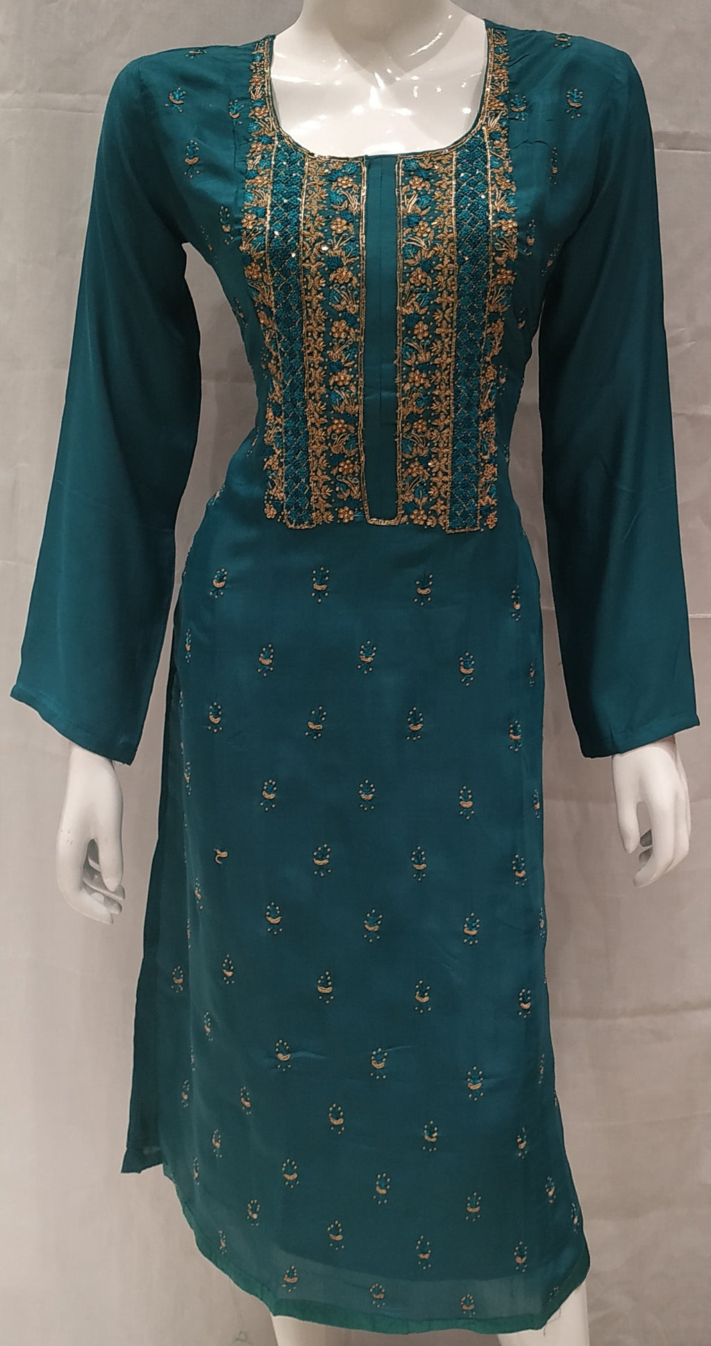 Rama Green Color Pure Muslin Designer Party Wear Kurtis NYF-6581