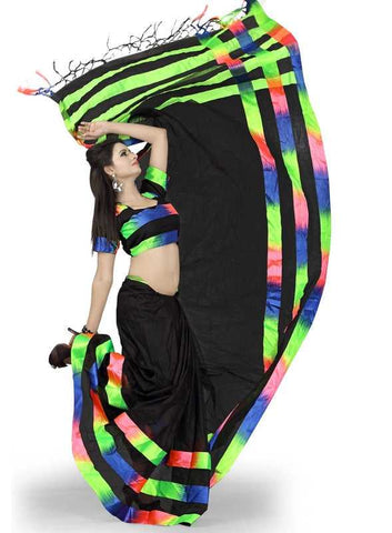 Black Color Cotton Office Wear Sarees : Suhasini Collection  YF-29441