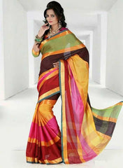 Multi Color Cotton Casual Party Wear Sarees : Bhavina Collection  YF-29903