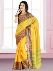Yellow Color Cotton Casual Party Wear Sarees : Bhavina Collection  YF-29905