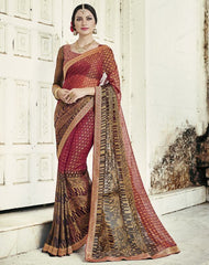 Pink Color Brasso Party Wear Sarees : Nikira Collection  YF-53413