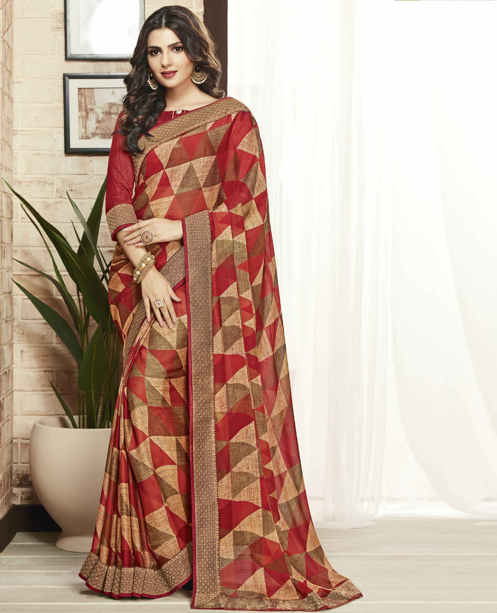 Multi Color Georgette Beautiful Party Wear Sarees NYF-6532