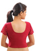 Maroon Color Strech Lycra Stretchable Daily Wear Blouses (Fits From 30 To 36 ): Samita Collection  YF-40037