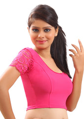 Pink Color Strech Lycra Stretchable Daily Wear Blouses (Fits From 30 To 36 ): Samita Collection  YF-40039
