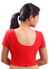 Red Color Strech Lycra Stretchable Daily Wear Blouses (Fits From 30 To 36 ): Samita Collection  YF-40041