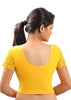 Yellow Color Strech Lycra Stretchable Daily Wear Blouses (Fits From 30 To 36 ): Samita Collection  YF-40043