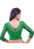 Green Color Strech Lycra Stretchable Daily Wear Blouses (Fits From 30 To 36 ): Samita Collection  YF-40045