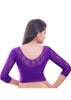 Purple Color Strech Lycra Stretchable Daily Wear Blouses (Fits From 30 To 36 ): Samita Collection  YF-40047